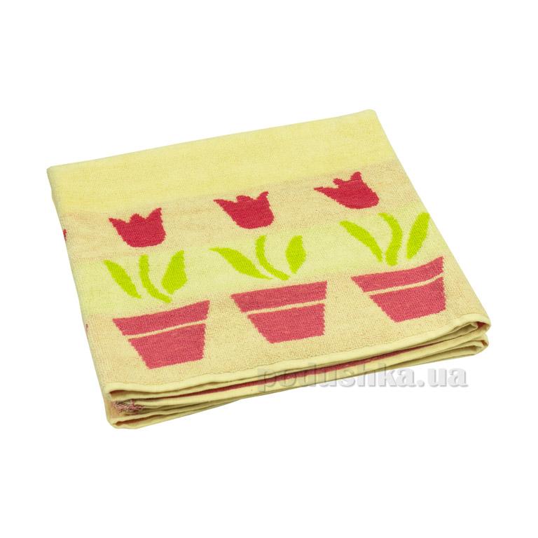 Махровое полотенце Руно Лалале желтое