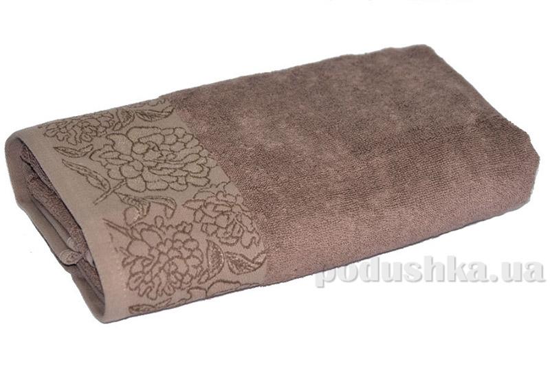 Махровое полотенце TAC Frape коричневое