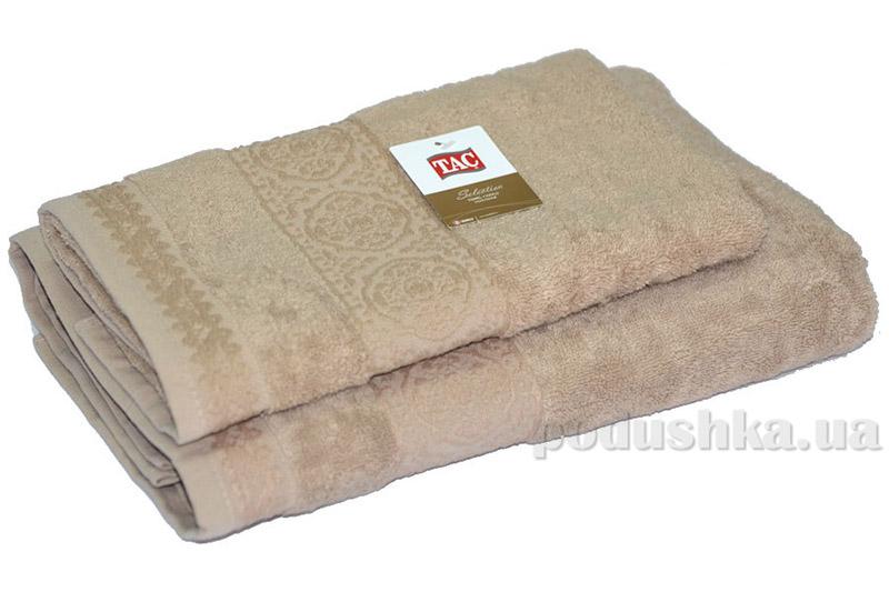 Махровое полотенце TAC Janti бежевое