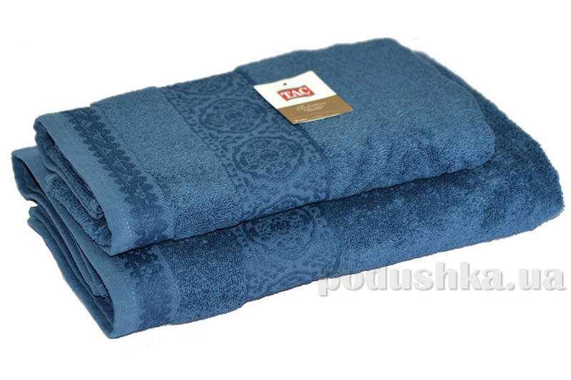 Махровое полотенце TAC Janti дымчато-голубое