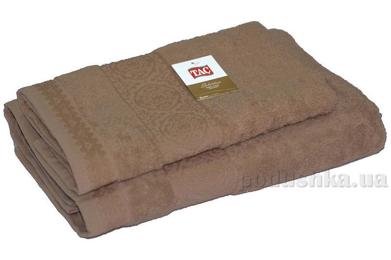 Махровое полотенце TAC Janti шоколадное