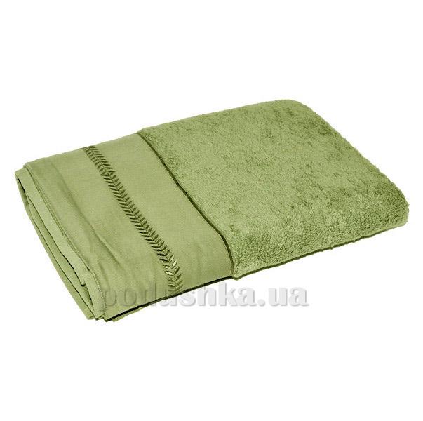Махровое полотенце TAC Kio зелёное