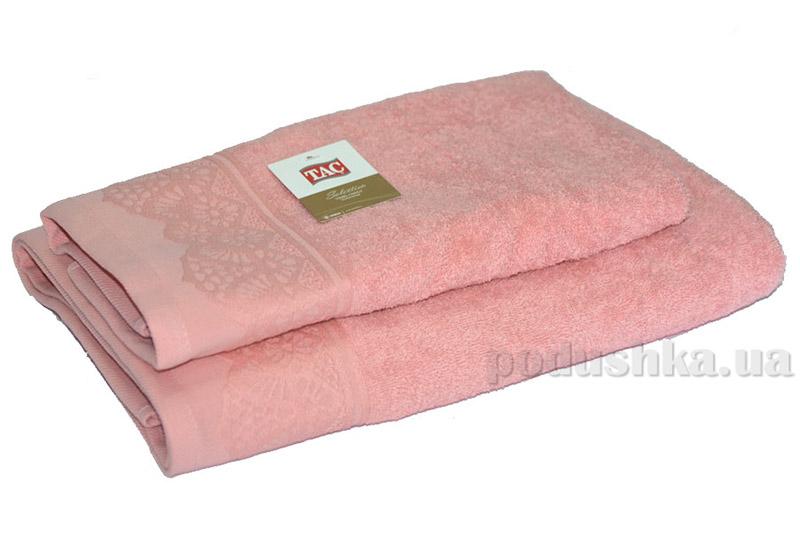 Махровое полотенце TAC Safran темно-розовое