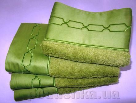Махровое полотенце TAC Sio зелёное