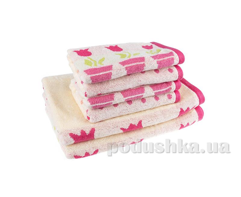 Махровое полотенце Terry Lux Лалеле розовое