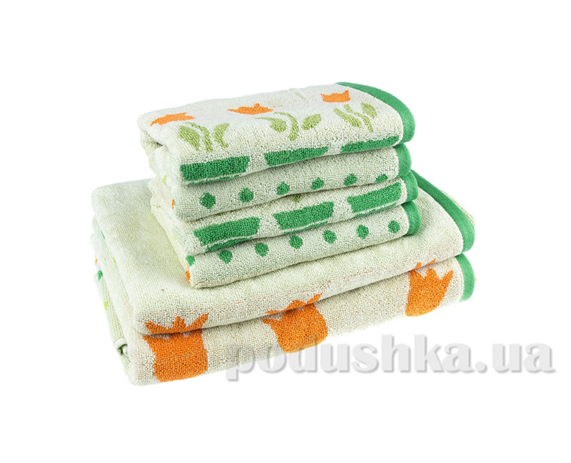 Махровое полотенце Terry Lux Лалеле салатовое