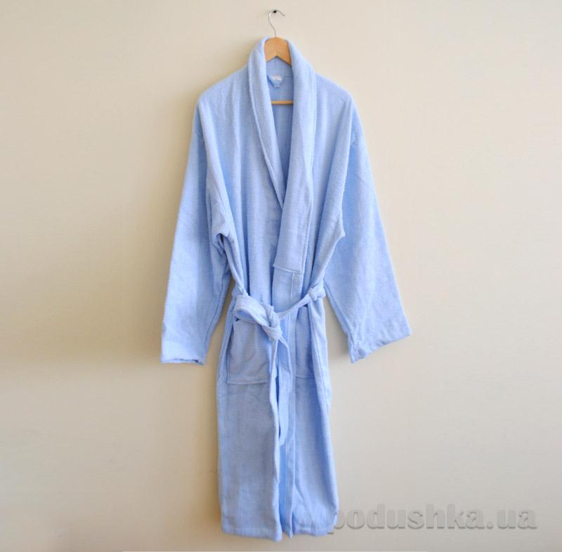 Махровый халат Nostra голубой