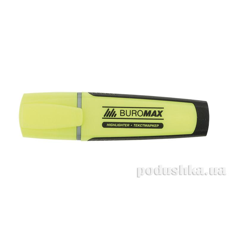 Маркер текстовый резиновые вставки желтый Buromax BM.8900-08