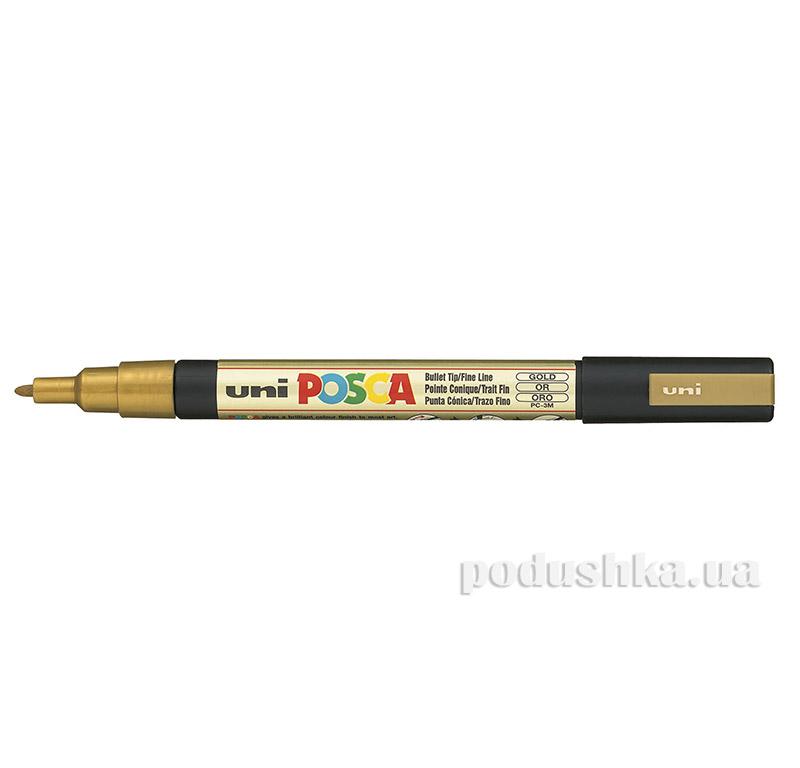 Маркер Uni Posca 0.9-1.3мм золото PC-3M.Gold