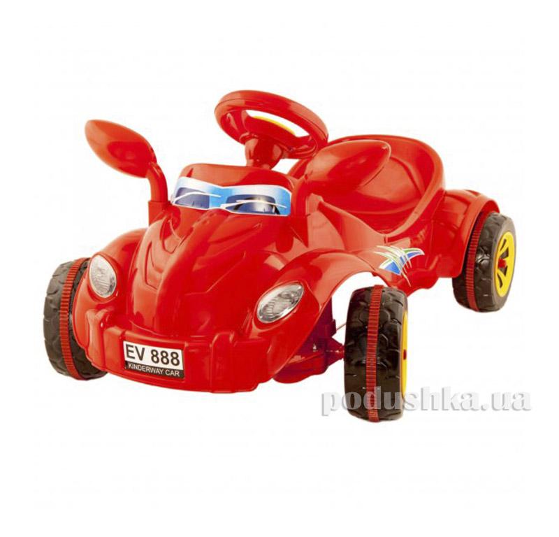 Машина педальная Kinderway Молния (09-903) Оранжевая