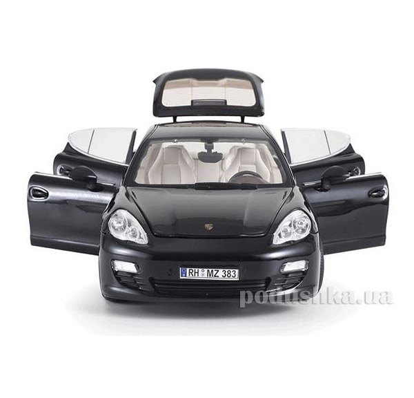Машинка радиоуправляемая 1:18 Porsche Panamera металлическая Meizhi MZ-2017Ab черный