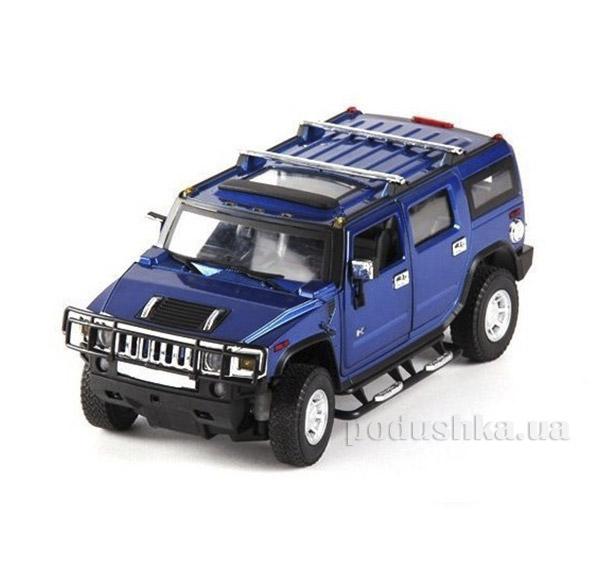 Машинка радиоуправляемая 1:24 Hummer H2 металлическая Meizhi MZ-25020Ab синий