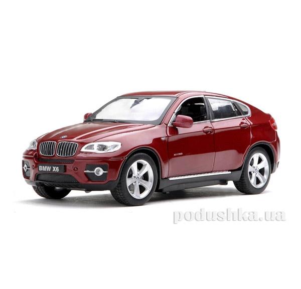 Машинка радиоуправляемая 1:24 Meizhi BMW X6 металлическая  Meizhi MZ-25019Ar красный