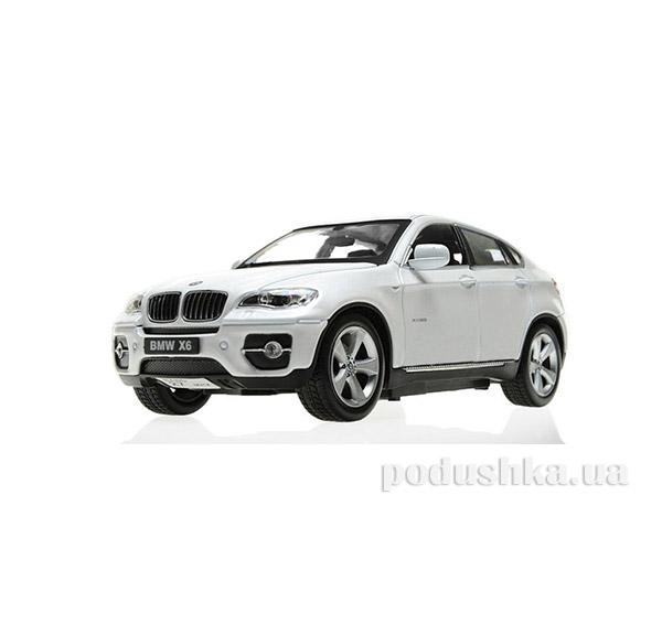 Машинка радиоуправляемая 1:24 BMW X6 металлическая Meizhi MZ-25019Aw белый