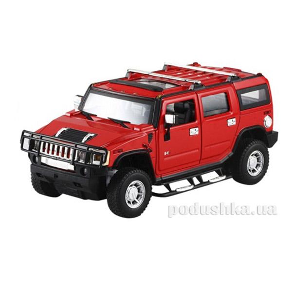Машинка радиоуправляемая 1:24 Meizhi Hummer H2 металлическая Meizhi MZ-25020Ar красный