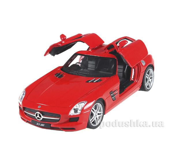 Машинка радиоуправляемая 1:24 Mercedes-Benz SLS AMG металлическая Meizhi MZ-25046Аr красный