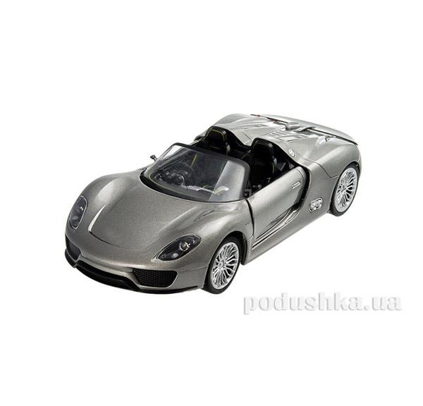 Машинка радиоуправляемая 1:24 Porsche 918 металлическая Meizhi MZ-25045Ag серый