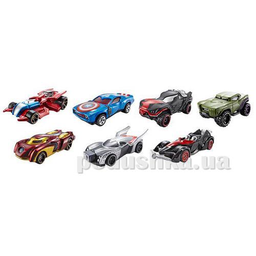 Машинки-герои Марвел Hot Wheels в ассортименте