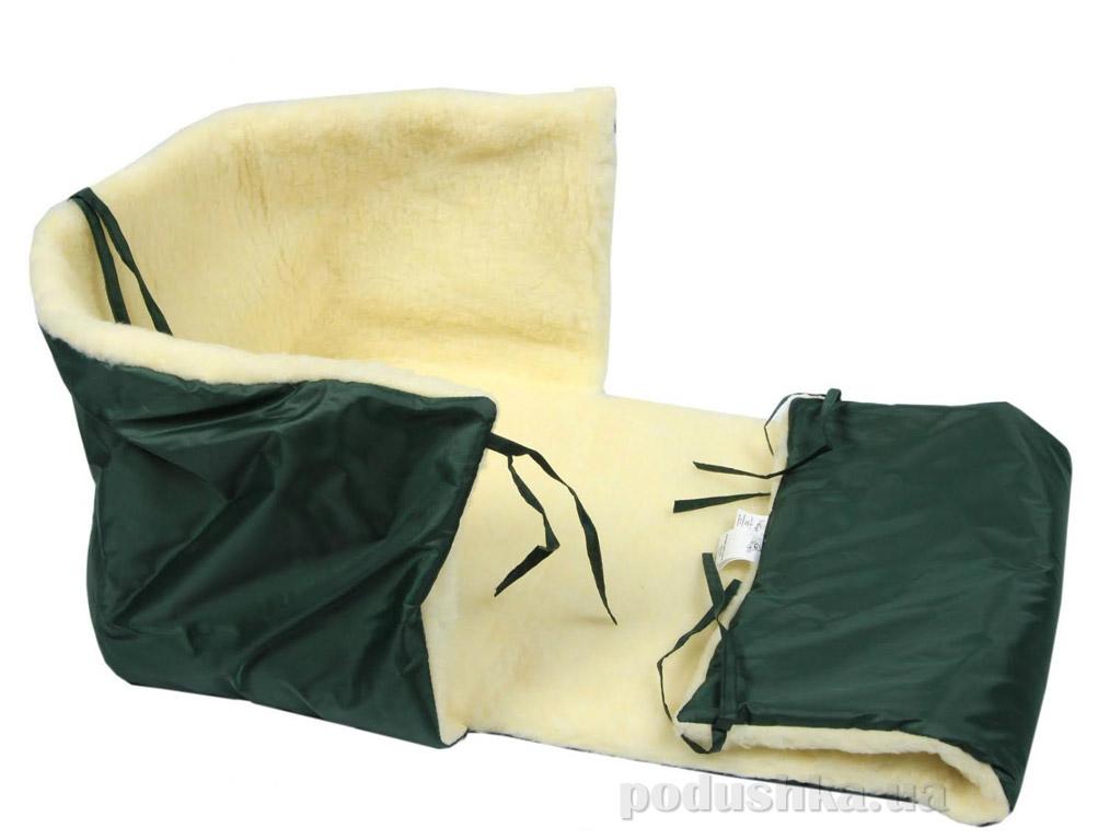 Матрас в санки меховый Руно зеленый