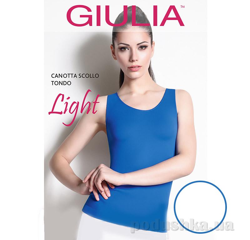 Майка белая женская Canotta Scollo Tondo Light Giulia Bianco