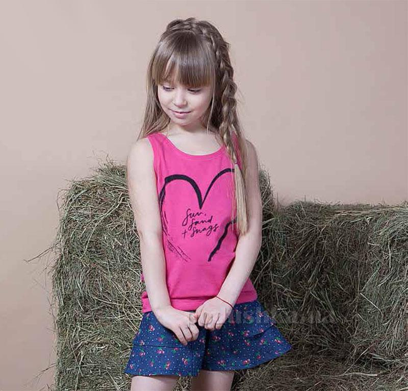 Майка для девочки Овен Пляж 17М1-298м малиновая 116  Овен