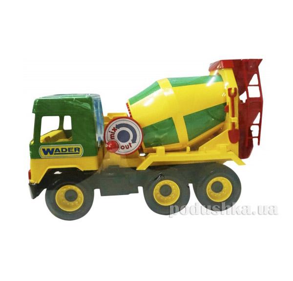 Middle Truck бетономешалка с зелёной кабиной Wader 39223-1   Wader