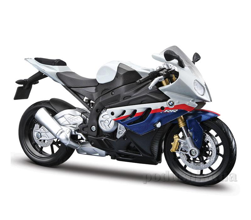 Модель мотоцикла 1:12 BMW S1000RR white/blue Maisto