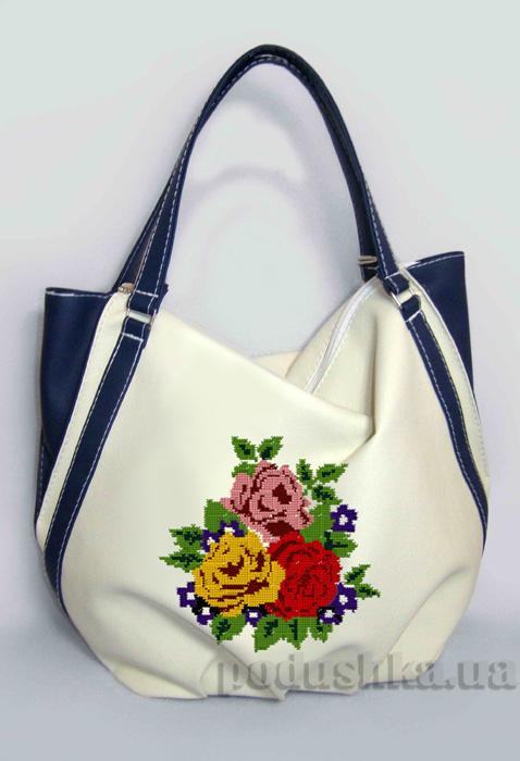 Молодежная сумка Anabelle-20 белая с синим Slivki