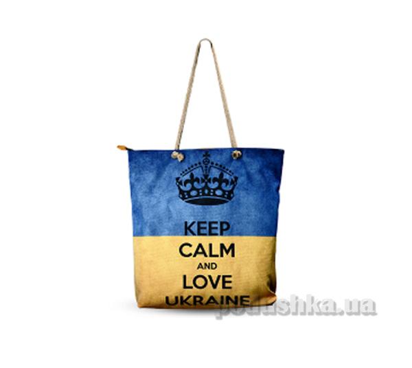 Молодежная сумка Izzihome Желто-голубая С0601