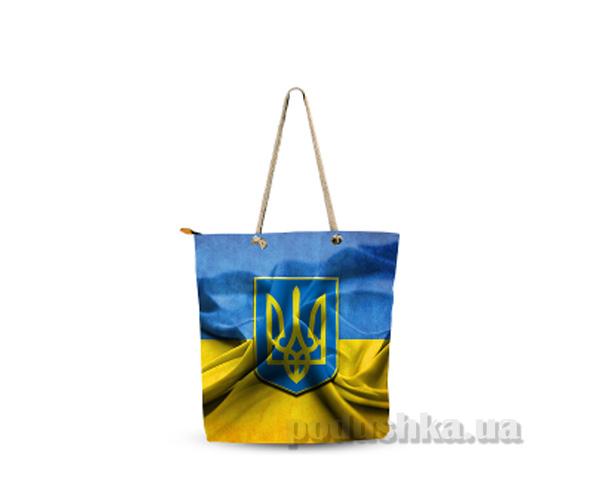 Молодежная сумка Izzihome Желто-голубая С0602