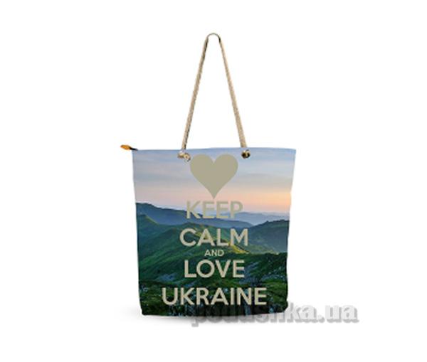 Молодежная сумка Izzihome Желто-голубая С0603