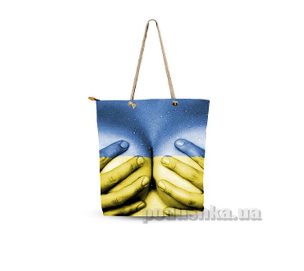 Молодежная сумка Izzihome Желто-голубая С0605
