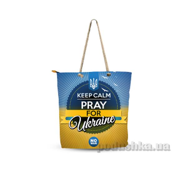 Молодежная сумка Izzihome Желто-голубая С0606
