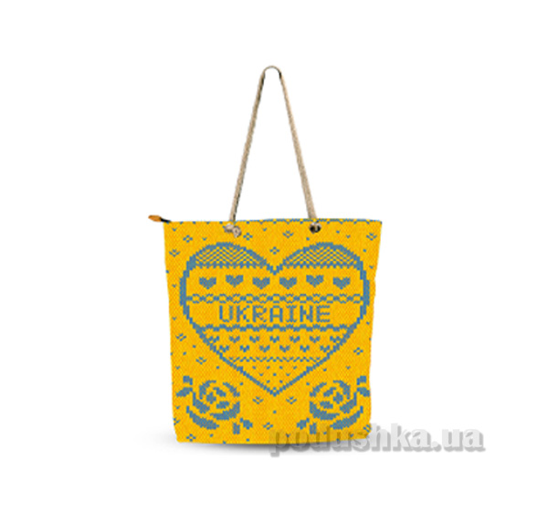 Молодежная сумка Izzihome Желто-голубая С0607