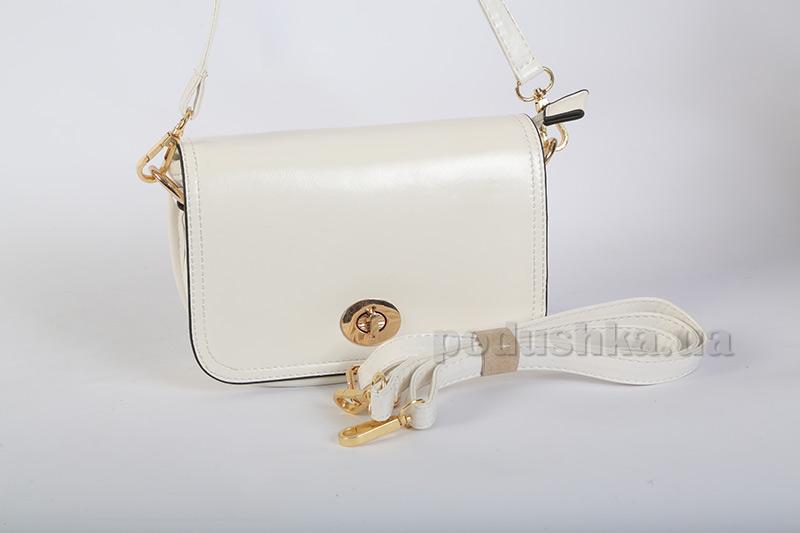 Молодежная сумка Maroon 0636 белая