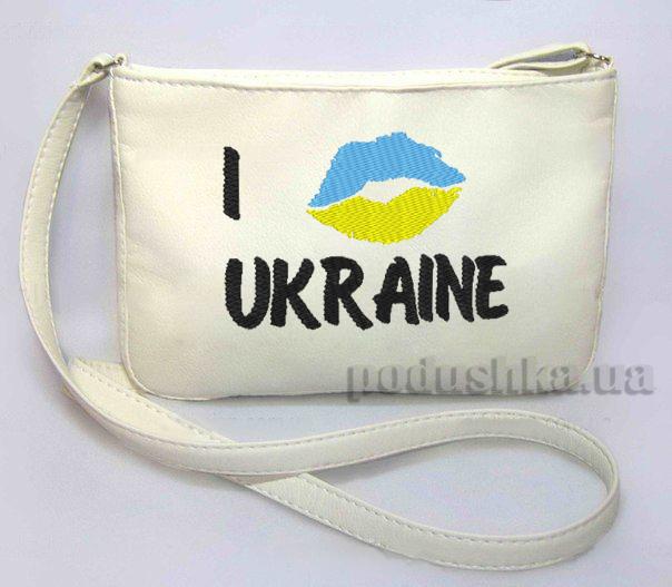 Молодежная сумка Mini-244 I Love Ukraine Slivki