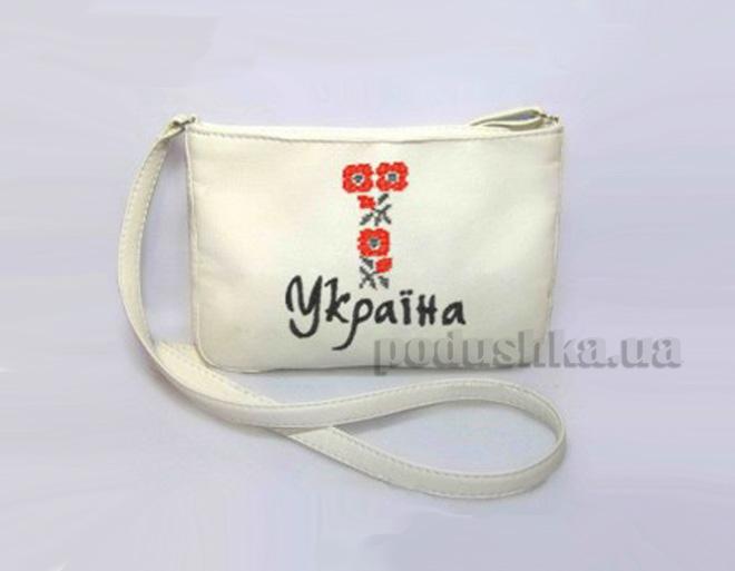 Молодежная сумка Mini-248 Украинская вышивка Slivki