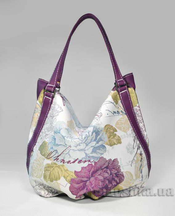 Молодежная сумка с фиолетовыми цветами Anabelle-22 Slivki