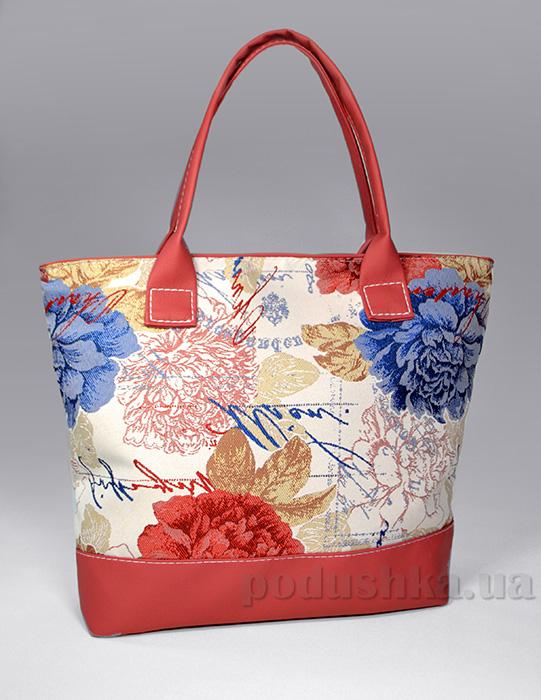 Молодежная сумка с пионами Jennifer-32 розовая Slivki