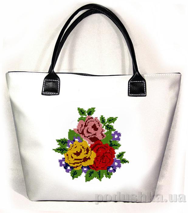 Молодежная сумка с розами Jennifer-29 белая Slivki
