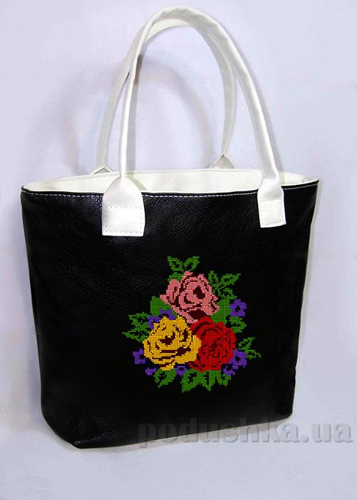 Молодежная сумка с розами Jennifer-29 черная Slivki
