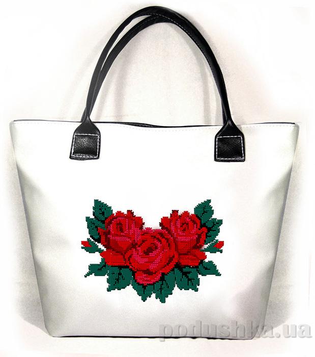 Молодежная сумка с розами Jennifer-30 белая Slivki