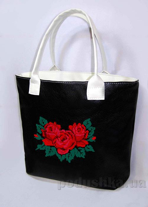 Молодежная сумка с розами Jennifer-30 черная Slivki