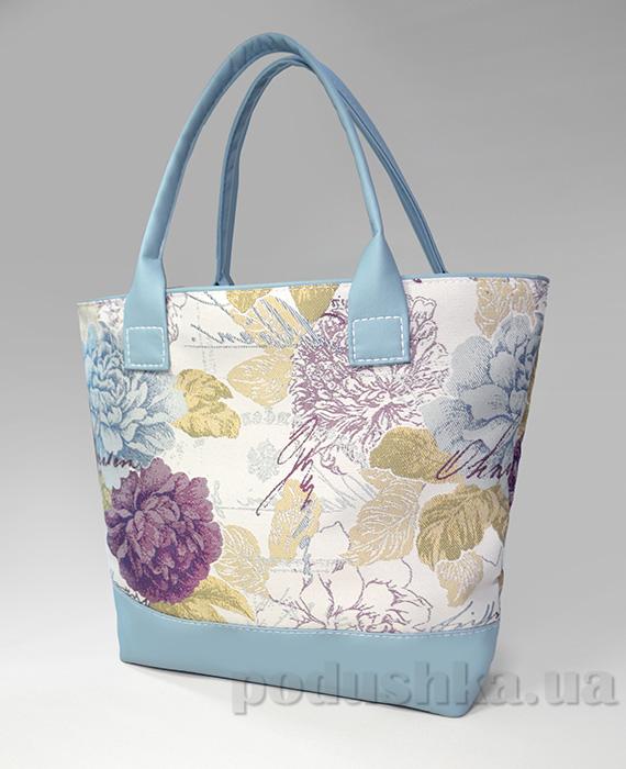 Молодежная сумка с цветами Jennifer-34 голубая Slivki