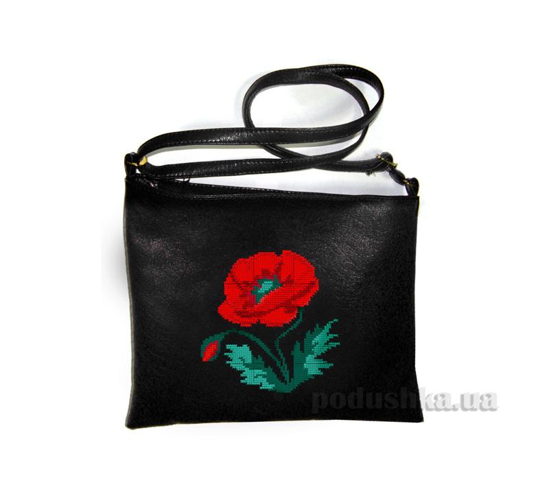 Молодежная сумка-планшет с вышивкой Мак С318 Slivki