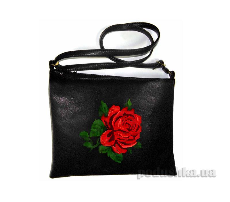 Молодежная сумка-планшет с вышивкой Роза С320 Slivki