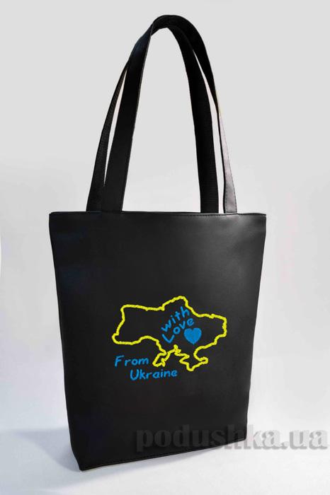 Молодежная сумка-шоппер From Ukraine Б319 Slivki