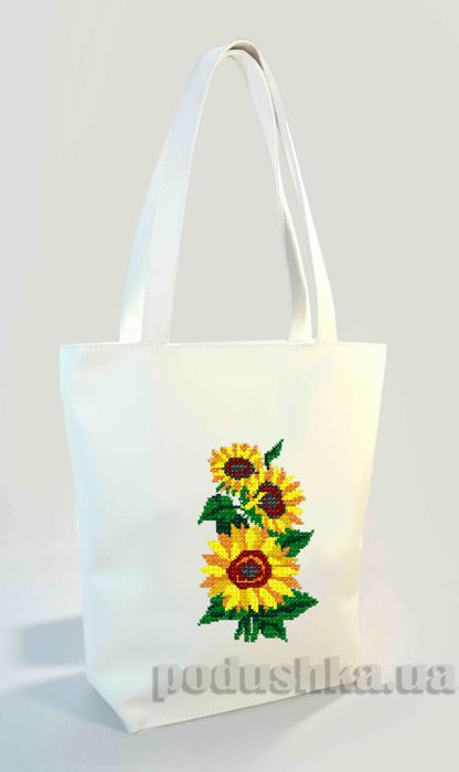 Молодежная сумка-шоппер Подсолнухи Б317 Slivki
