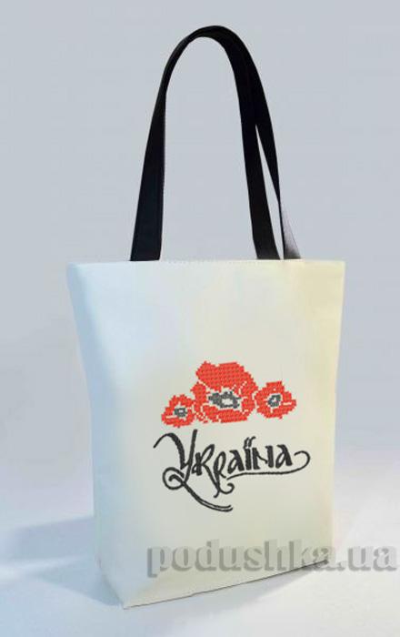 Молодежная сумка-шоппер Украина Б326 Slivki