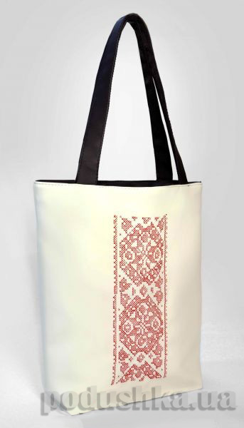 Молодежная сумка-шоппер Украинская вышивка Б333 Slivki
